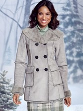 Diana Faux-shearling Coat
