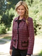 Trina Trimmed Tweed Jacket