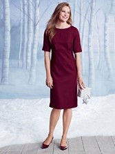 Worsted Wool Crepe Debonair Dress