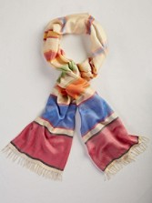 Awning Stripe Long Silk Scarf