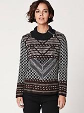 Geometric Pattern Pullover
