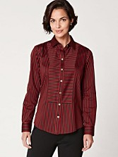 Fitted Sateen Stripe Shirt
