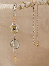 Crystal Ball Pendant Watch With Key