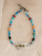 Good Chief Silver And Bead Bracelet