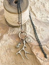 Antler Cluster Necklace