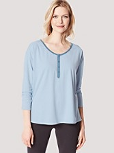 Drop-shoulder Henley