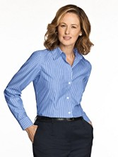Wrinkle-free Fitted Stripe Shirt