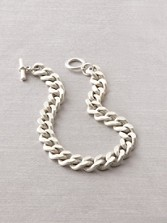 Bevel Silver Chain Necklace