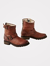 Shearling-lined Valerie Engineer Boots