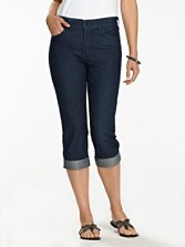 Nydj Alyssia Dark Denim Crops