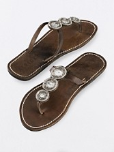 Mahati Disc Beaded Sandals