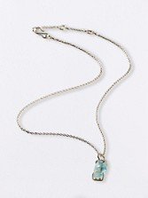 Aquamarine Simple Set Necklace