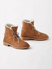 Shearling Lined Suede Sneakers