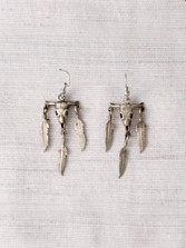 Skull/feather Earrings