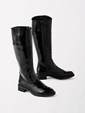 Knee-high Zip Rain Boots