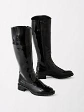 Knee-high Zip Rain Boots