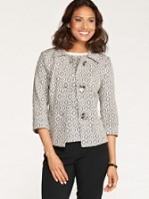 Three-quarter Sleeve Harmony Knit Jacket