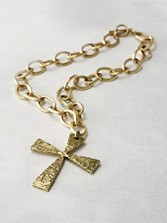 French Cross Necklace