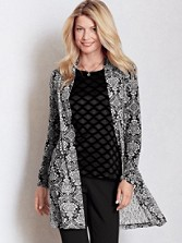 Long Lia Lace Printed Cardigan