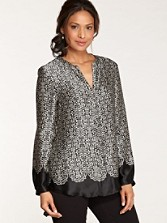 Silk Kelsey Wrought Iron Print Blouse