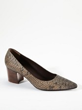 Snakeskin-embossed Pumps