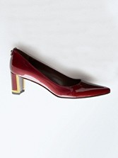 Logo First Class Patent Leather Pumps