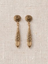 Fluted Tassel Earrings