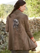 Spirit Horse Hoodie Wrap Cardigan