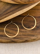 14k Gold Filled Circle Hoops