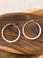 Sterling Silver Circle Hoops