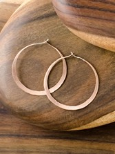 Rose Gold Circular Hoops