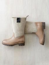 Mixed-media Boots