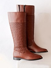 Rider Braided Glove-leather Boots