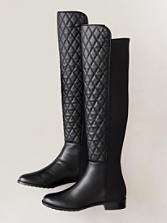 Leather/microfiber Tall Quiltboots