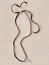 Sterling Camper Charm W/leather Necklace