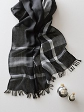 Engineered Plaid Scarf