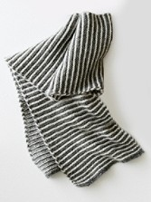 Handknit Italian Striped Scarf
