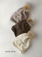 Handknit Italian Pompom Hat