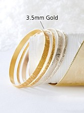 3.5mm Goldplate Serpent Bangle