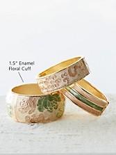 Enamel Floral Cuff