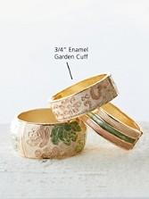 Enamel Garden Cuff