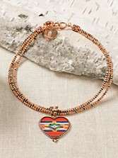 Serape Heart Necklace