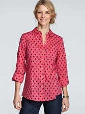 Fitted Diamond Dot Print Shirt