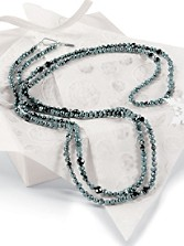Teal Pearl Long Necklace
