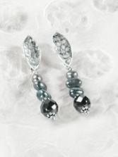 Teal Pearl Earrings