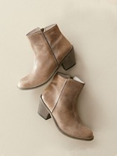 Fie Distressed Leather Booties