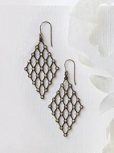 Handmade Lattice Earrings