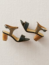 Lenore Two-tone Leather Sandals