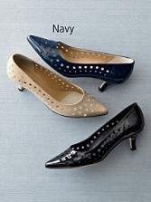 Patent Leather Cutout Theonie Pumps