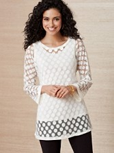 Dot Lace Tunic